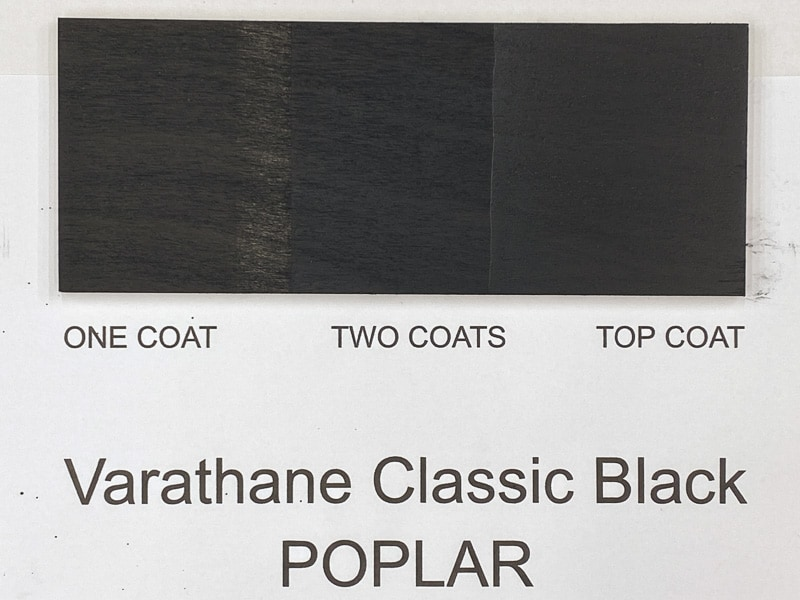 Varathane Classic Black wood stain on poplar