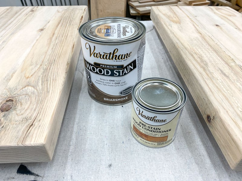 Varathane Briarsmoke wood stain and pre-stain wood conditioner