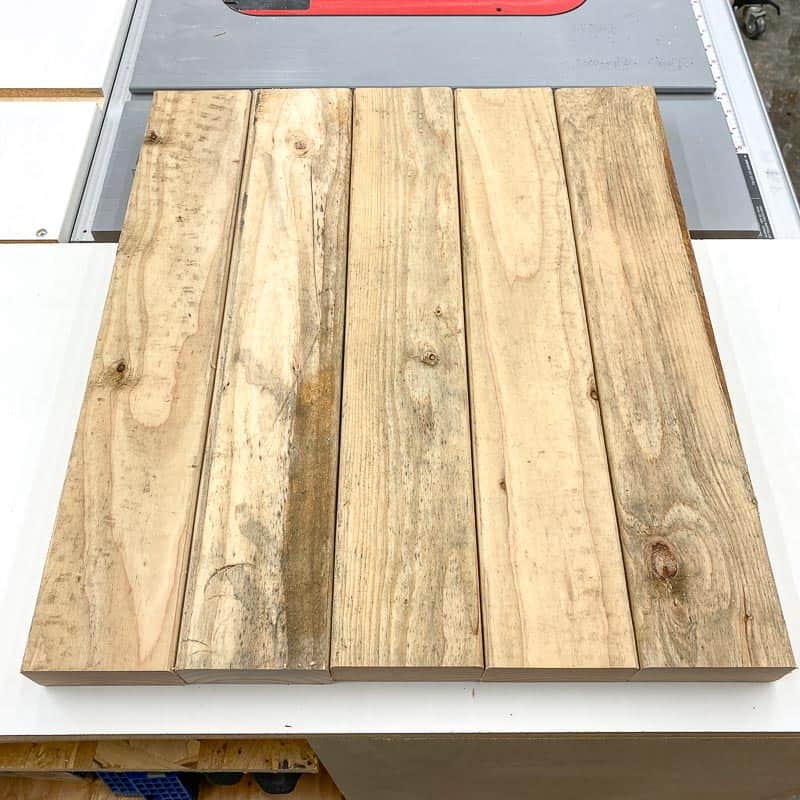 top pieces for the DIY rustic end table