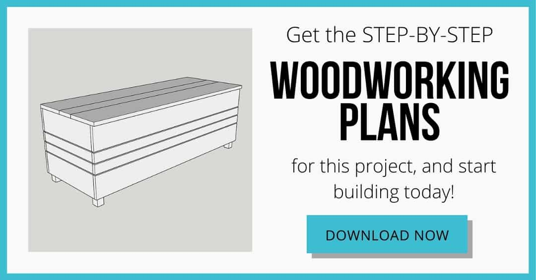 download box for DIY outdoor storage box woodworking plans