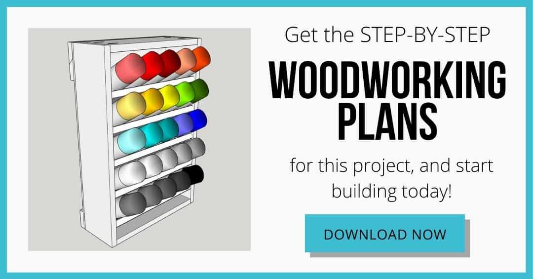 spray paint storage rack plans download box