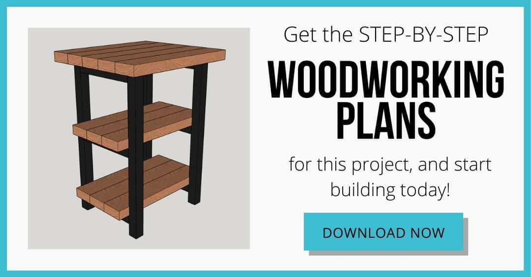 DIY rustic end table plans download box