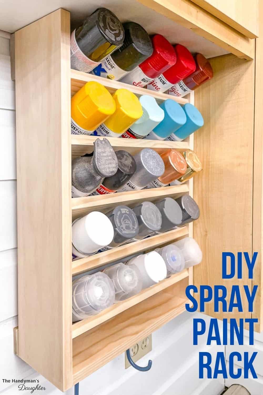 DIY spray paint storage rack