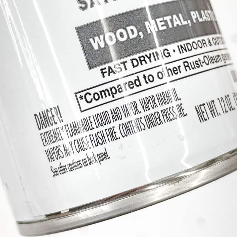 spray paint warning label