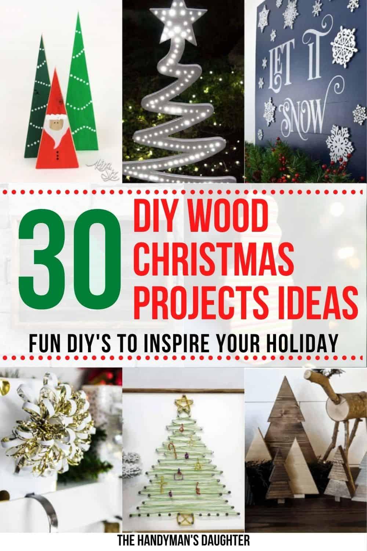 30 DIY wood Christmas project ideas