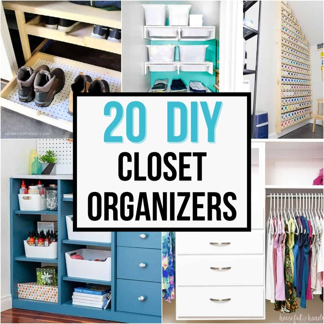 20 DIY closet organizers