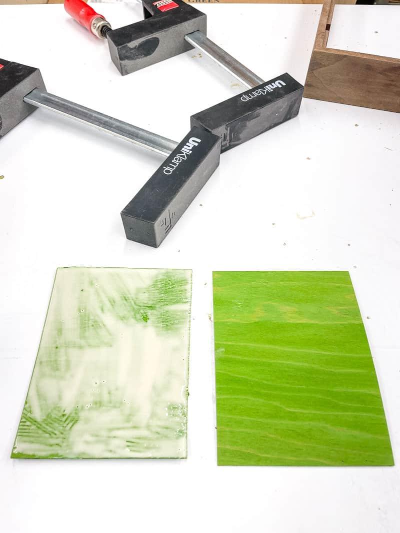 green wood veneer for DIY dice tray splines
