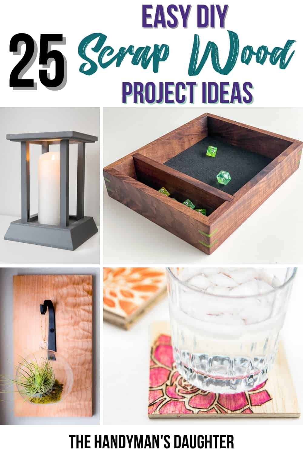 DIY scrap wood projects collage
