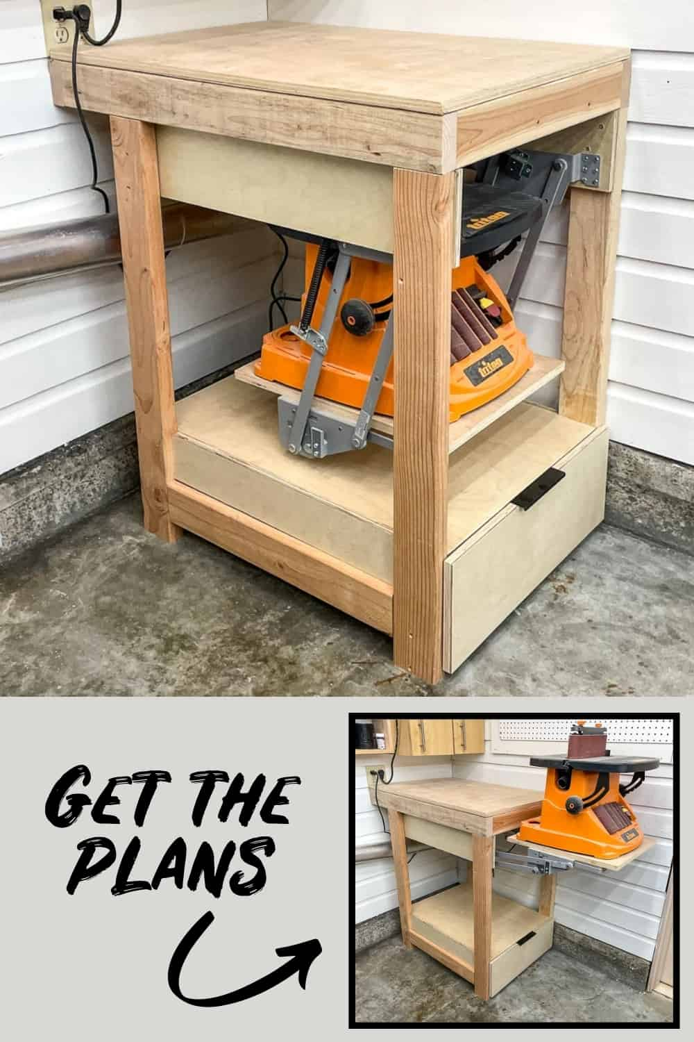 Flip up tool stand with plans