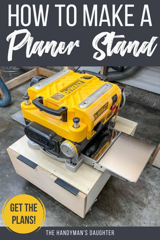 DIY Planer stand with storage