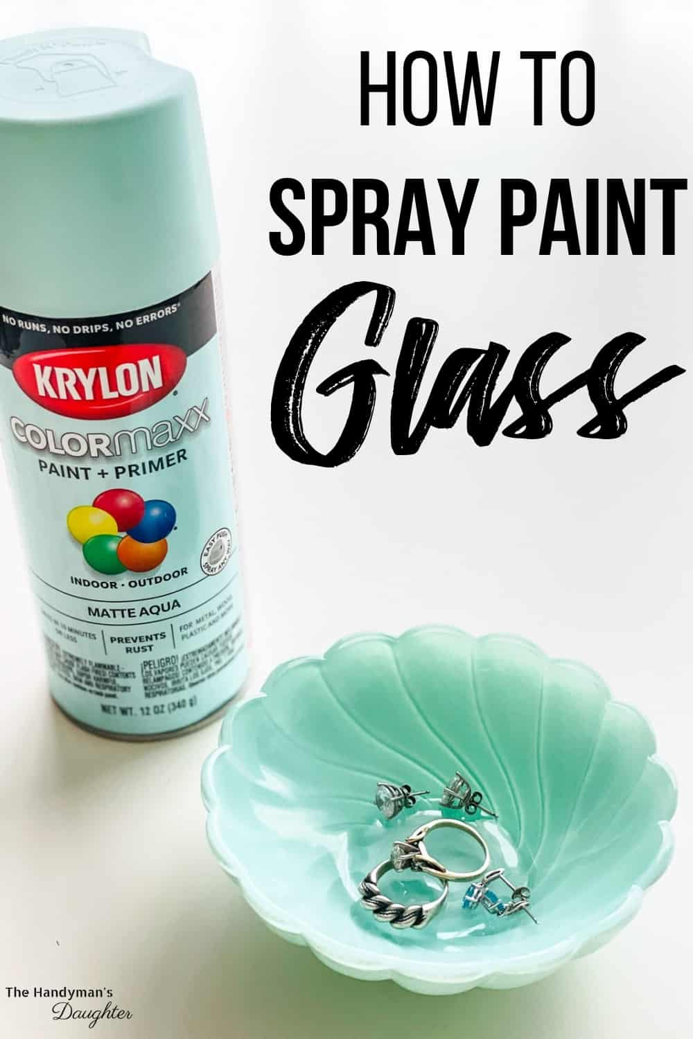 how to paint glass with spray paint