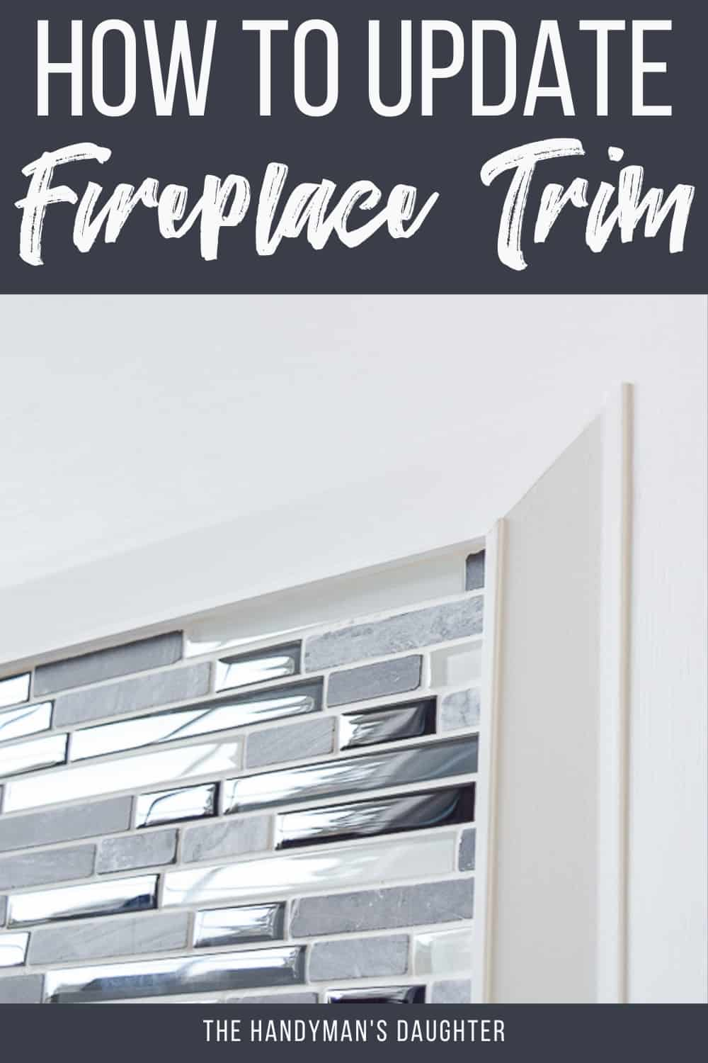how to install fireplace trim around tile