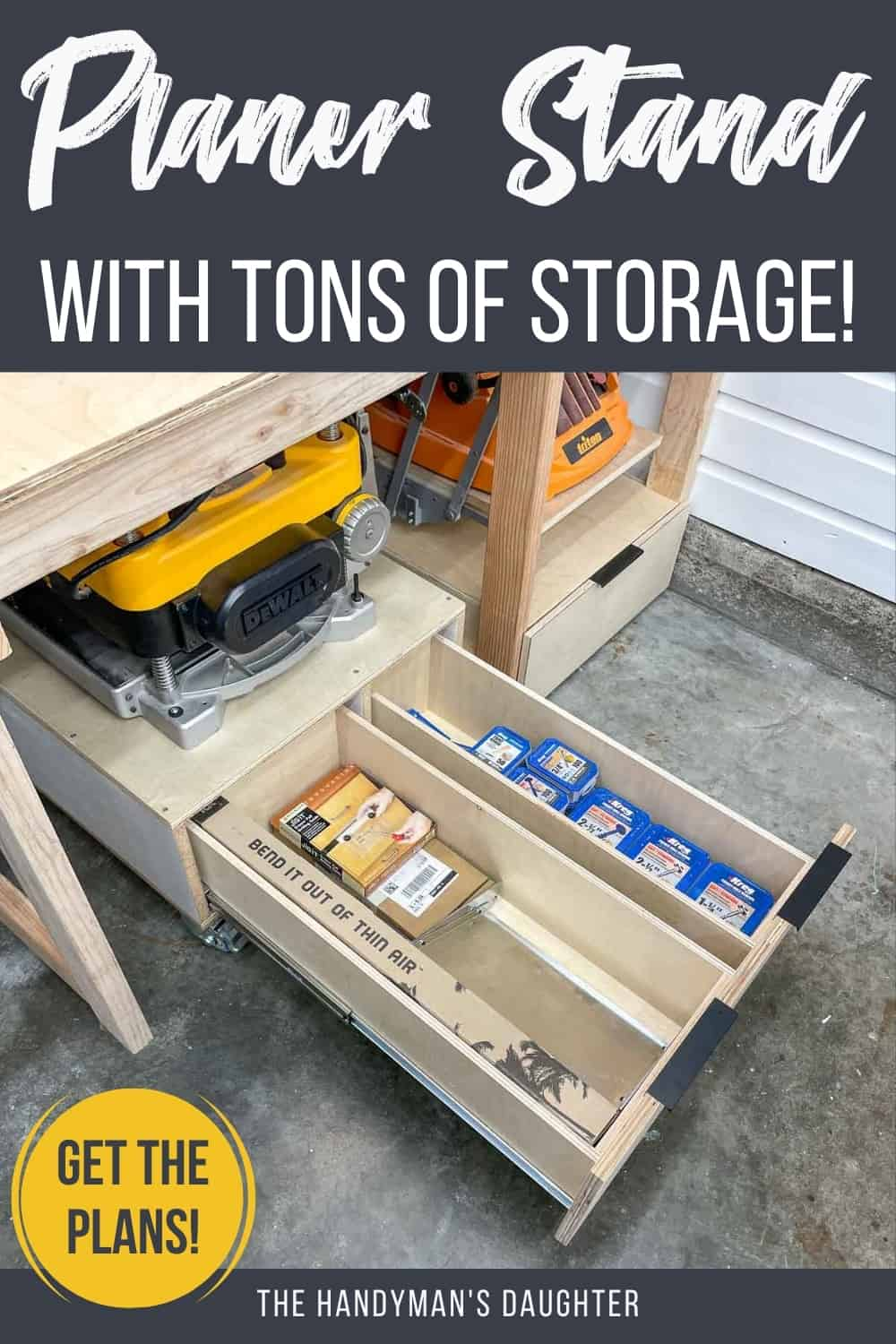 planer stand with tons of storage