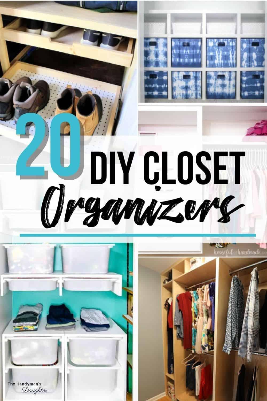 20 DIY closet organizer ideas