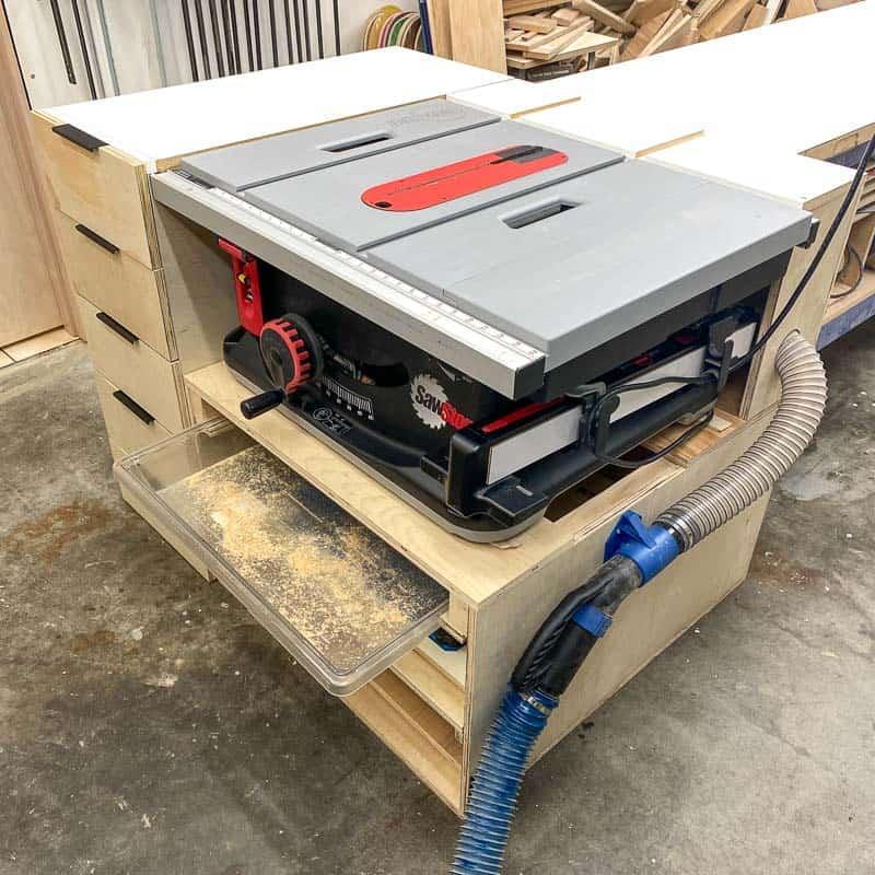 DIY table saw stand