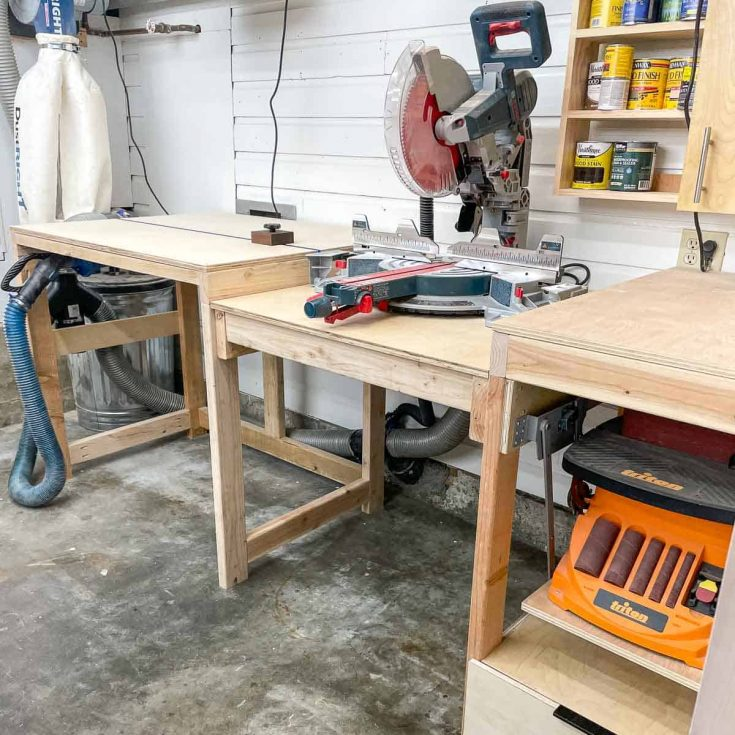 DIY miter saw station with plans