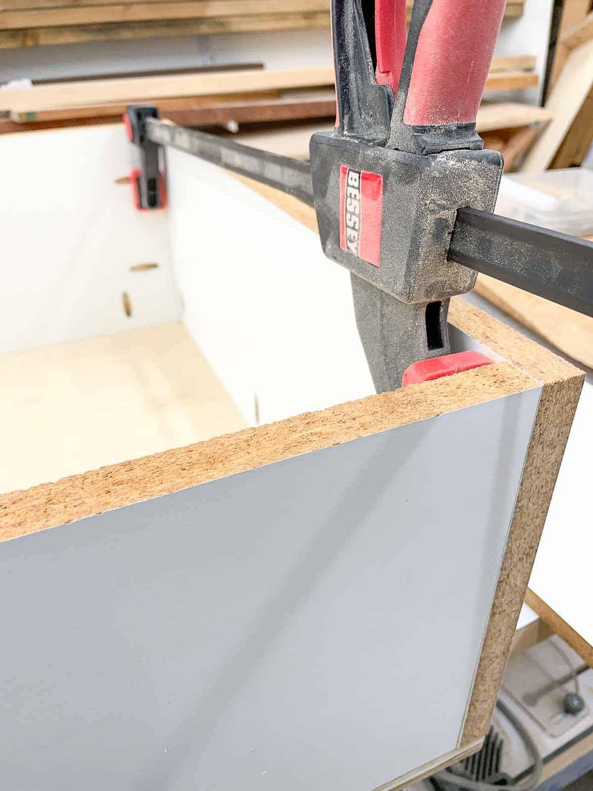 assembling frame for planer stand box