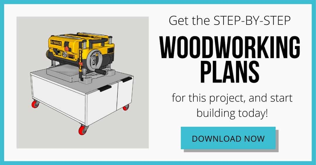 download box for DIY planer stand plans