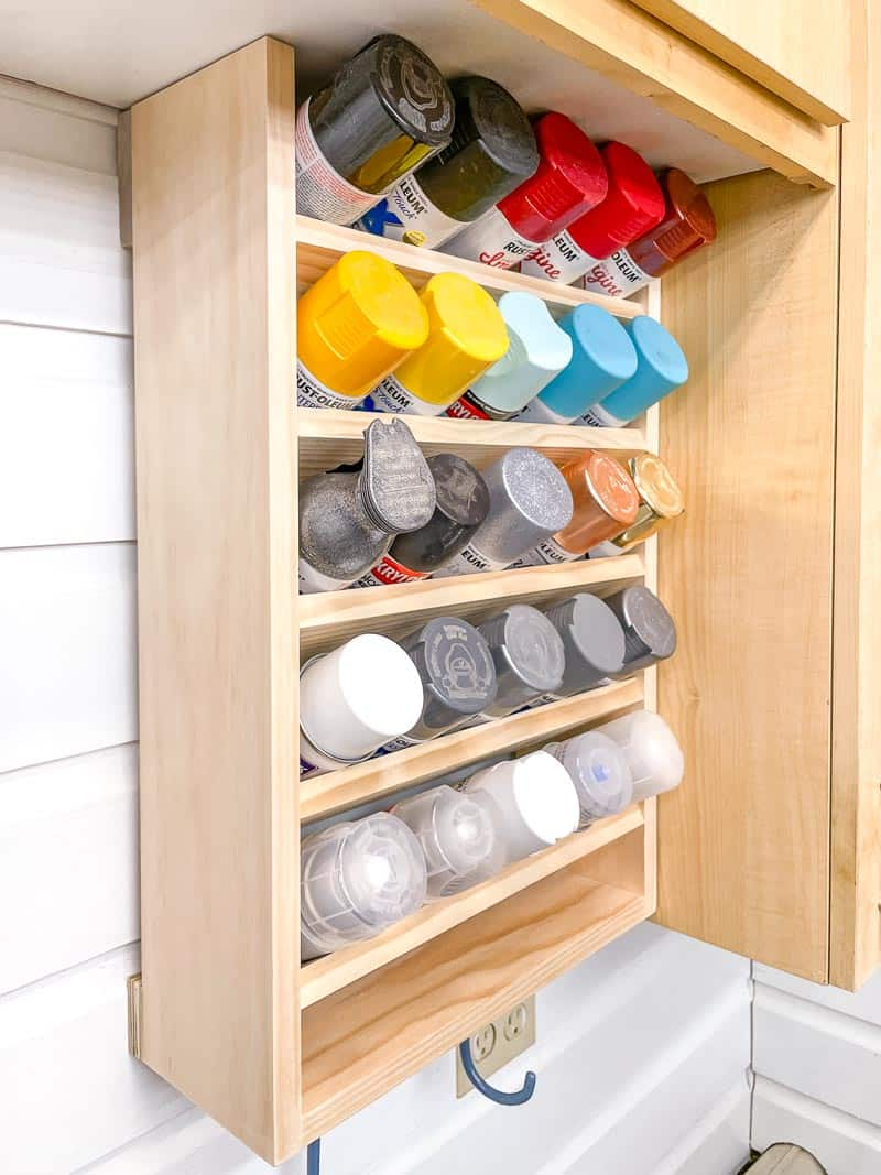 spray paint storage rack