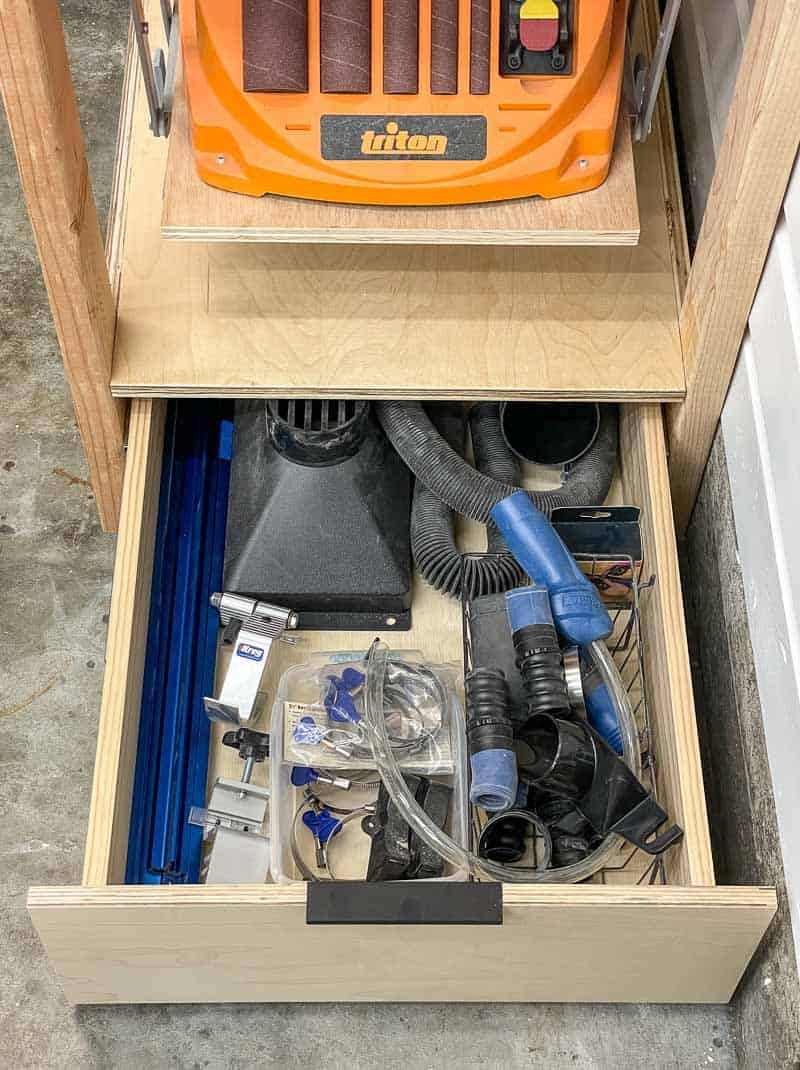 tool stand drawer open