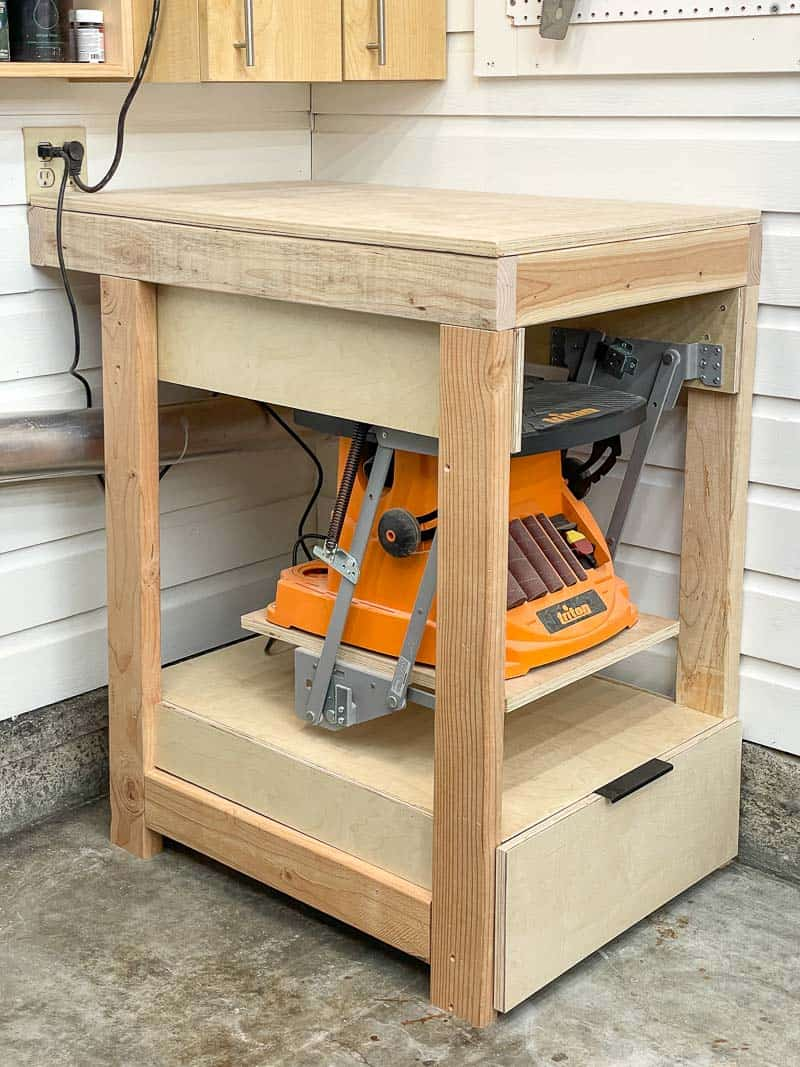flip top tool stand alternative with lift for sander