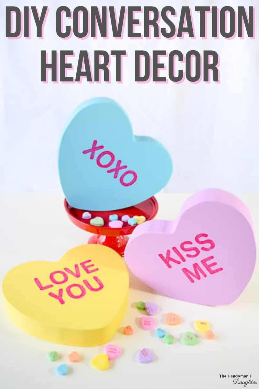 DIY conversation hearts decor