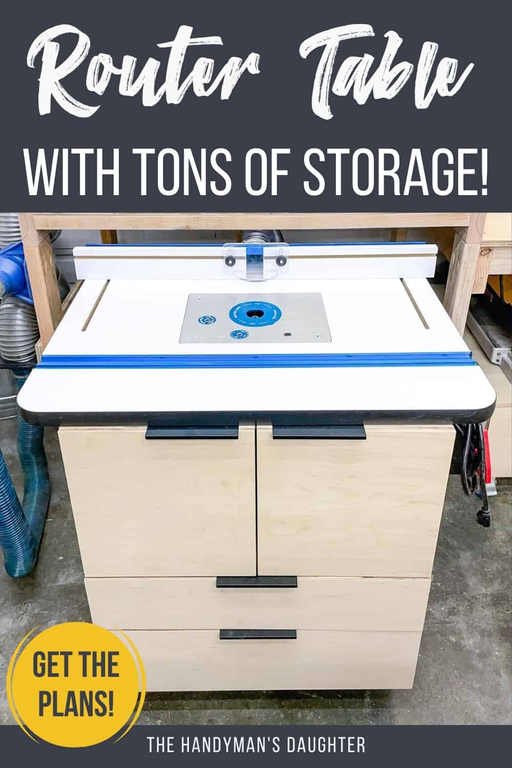 DIY router table with storage (plans)