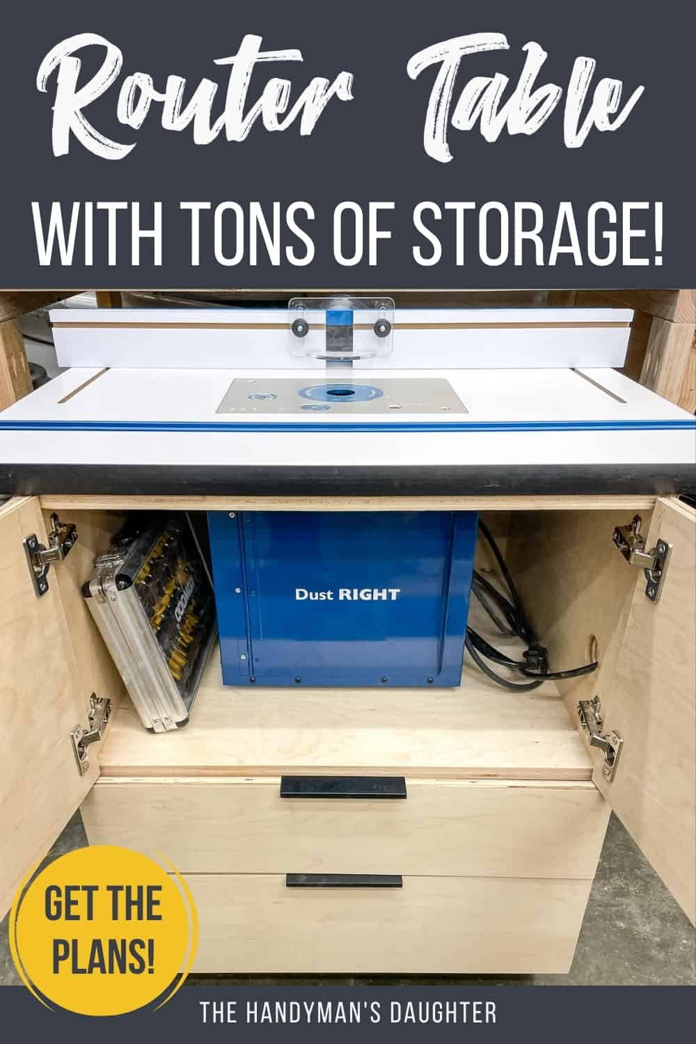 DIY router table stand with storage