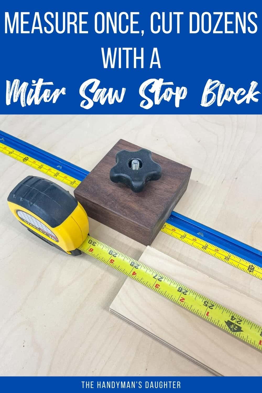 miter saw stop block system