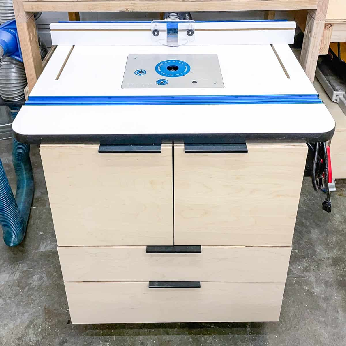 DIY router table with Rockler top and fence
