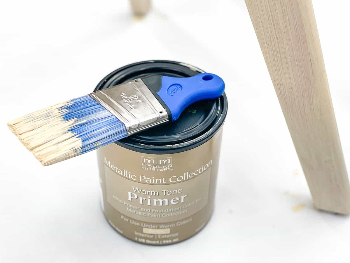 warm tone primer for metallic furniture paint