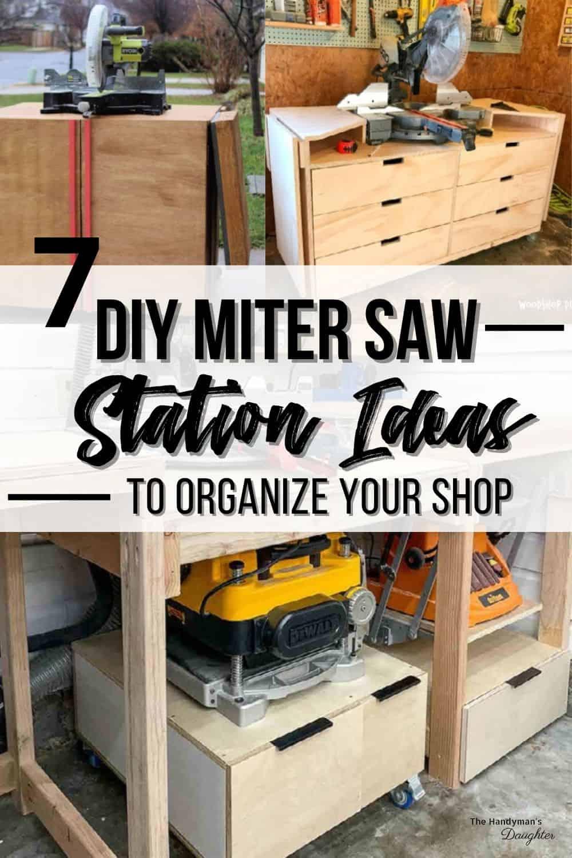 7 DIY miter saw station ideas