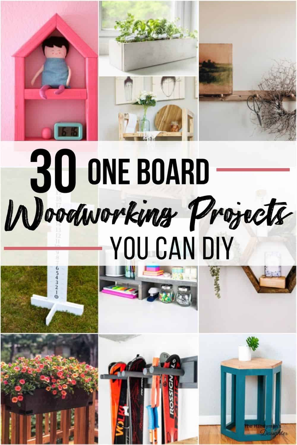 30 one board woodworking projects you can DIY