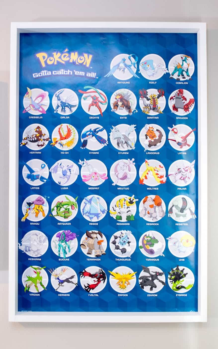 Pokemon poster with DIY wood poster frame