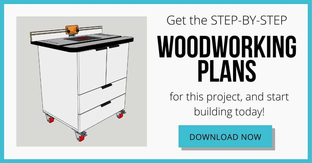 download box for router table woodworking plans