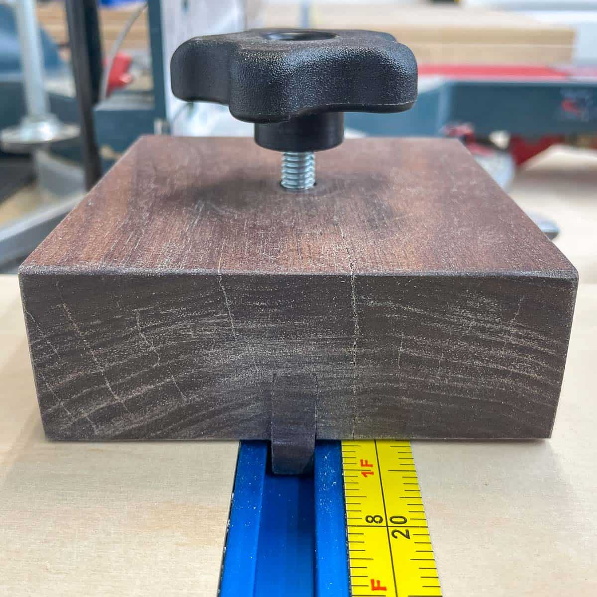 t track miter saw stop block in track
