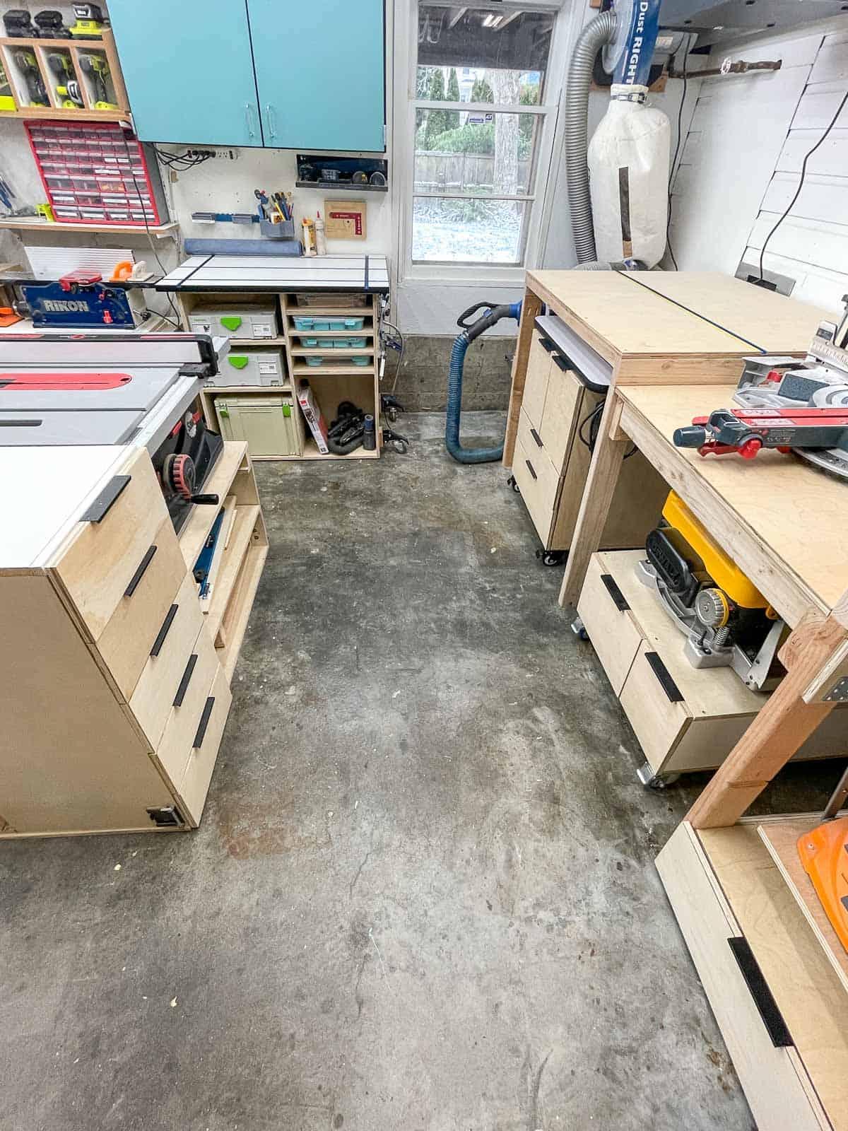 garage workshop with tools