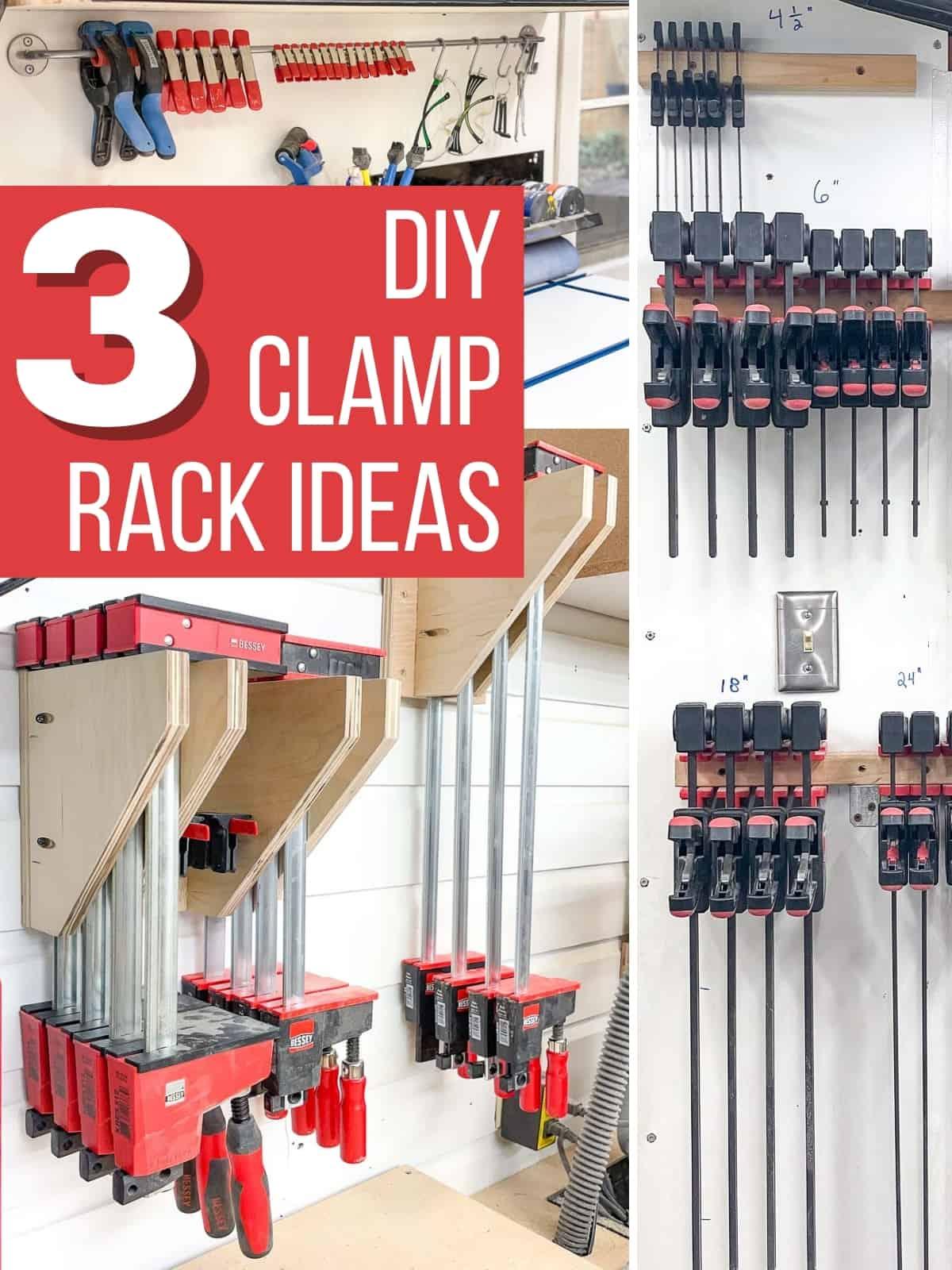 DIY clamp rack ideas