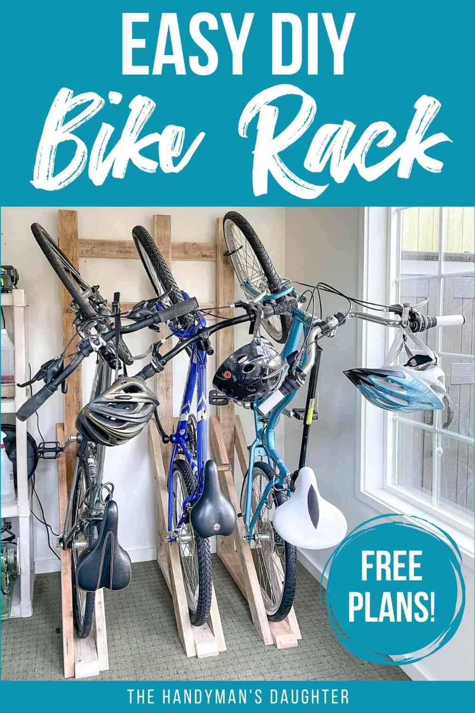 Easy DIY Garage Bike Rack with Plans