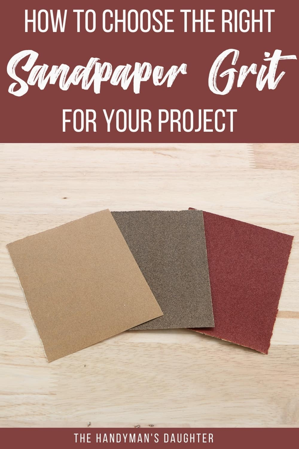 How to choose the right sandpaper grits for your project