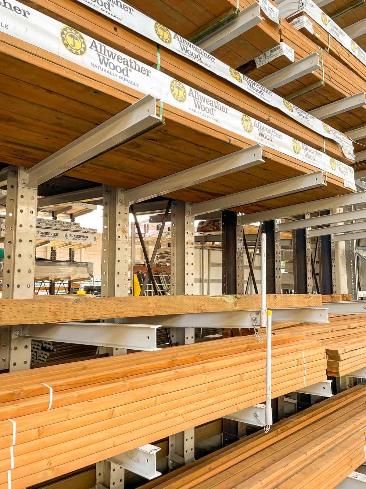 AllWeather Wood pressure treated lumber at Lowe's