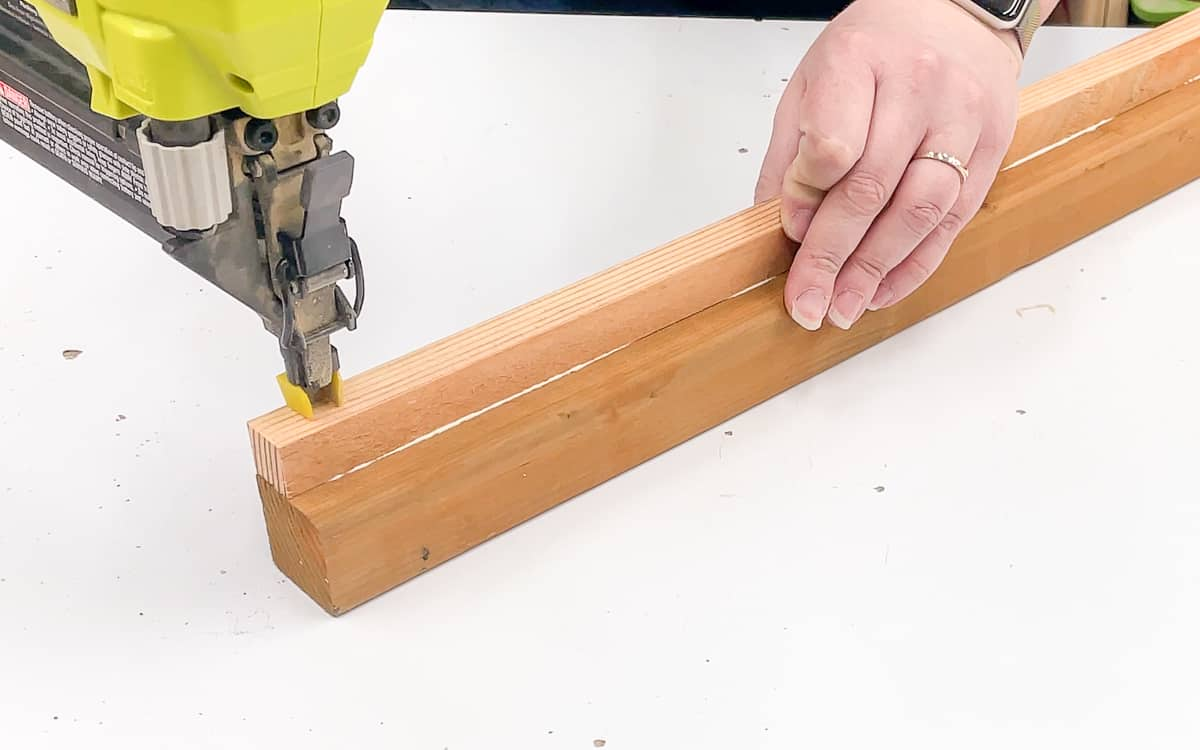 combining wood glue and brad nails for a stronger joint
