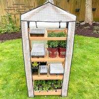 DIY greenhouse front view