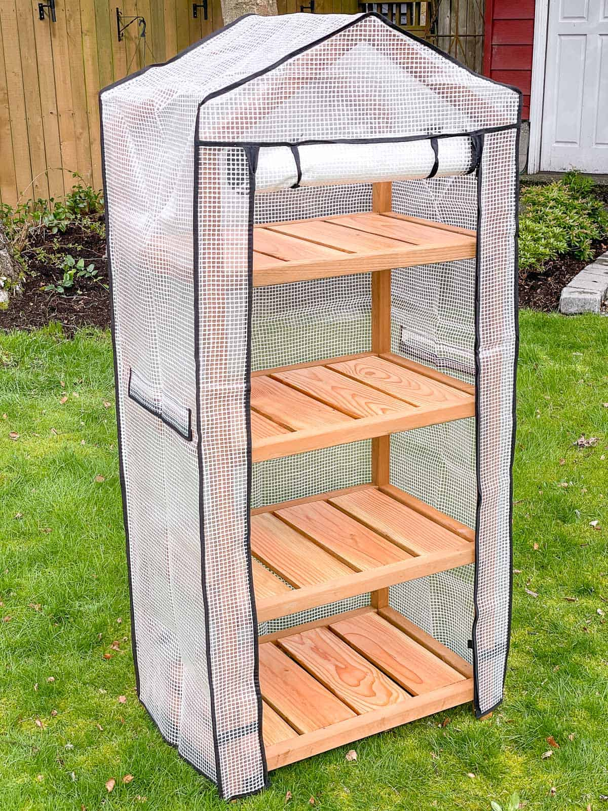 DIY mini greenhouse with cover