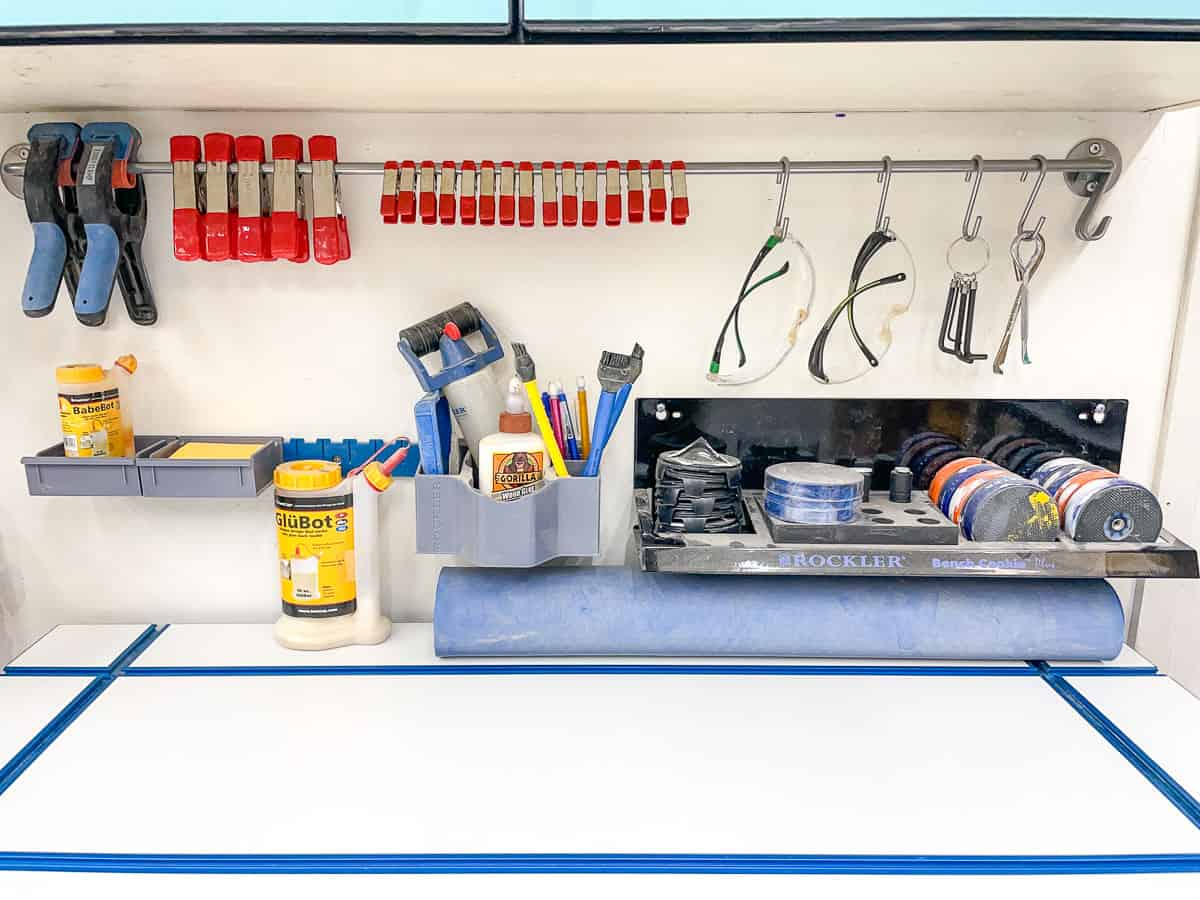 DIY spring clamp rack and other wall mounted tools