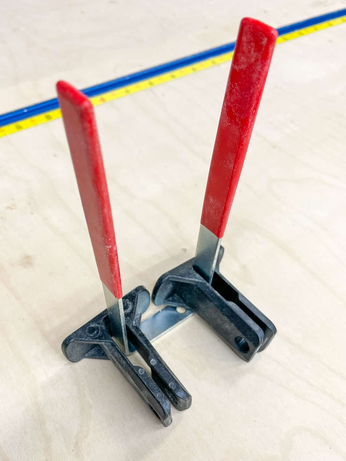two pronged hook for storing Bessey REVO clamp risers
