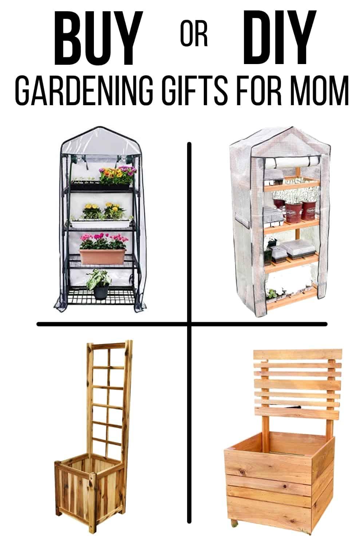 Buy or DIY gardening gifts for Mom