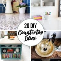 20 DIY countertop ideas square collage