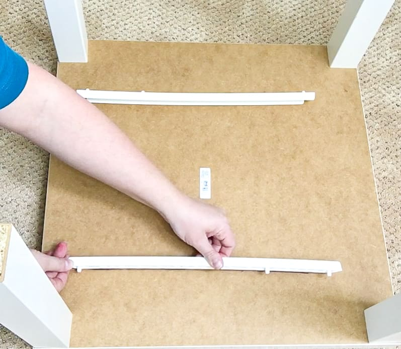 attaching drawer slides to underside of IKEA Lack table