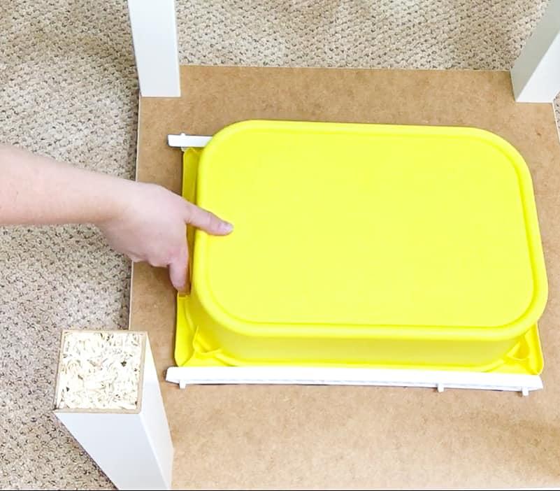 testing drawer slides with IKEA Trofast bin